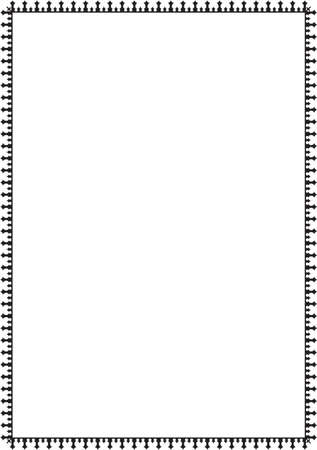 florid: Fine border isolated on white
