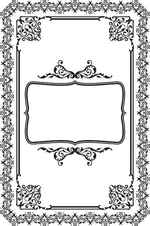 Baroque frame isolated on white Vector