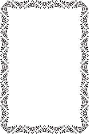 Rococo page isolated on white Vector