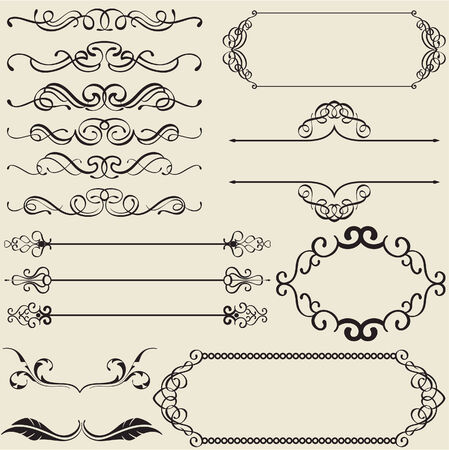 gothic revival style: The calligraphy design nice set