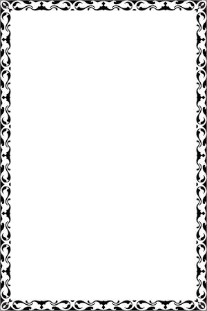 interweaving: Vintage border is on white