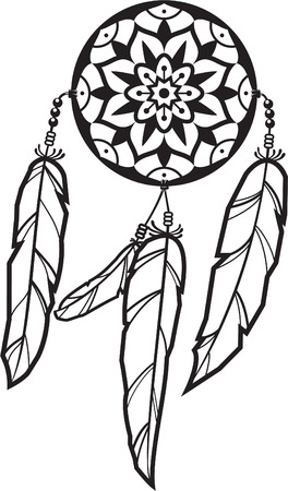 Dreamcatcher isolated on white Illustration
