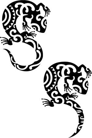 Salamander is geïsoleerd op wit Stock Illustratie