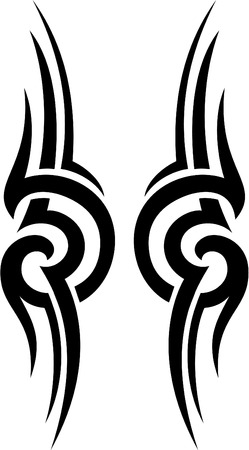 polynesian ethnicity: The tribal is isolated on white