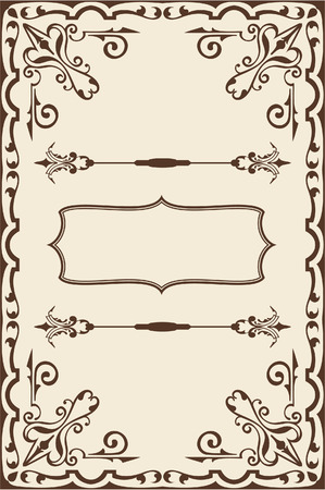 Baroque fine page on beige