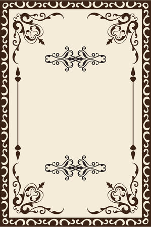 florid: Ornate baroque page is on beige