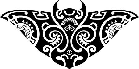 polynesian ethnicity: Stingray is isolated o on white