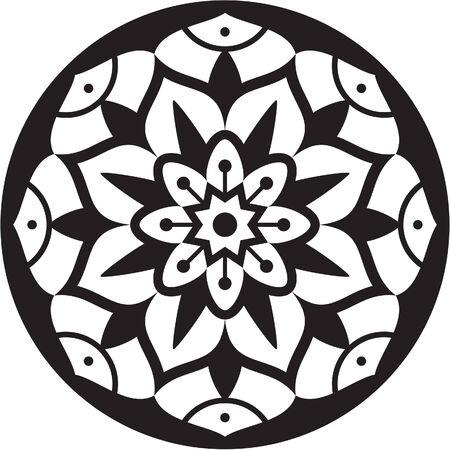 Mandala is isolated on white photo