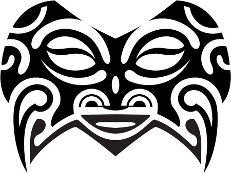 polynesian ethnicity: Mask is isolated on white