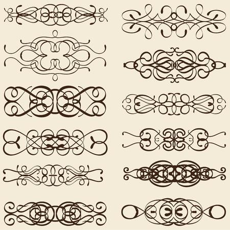 divides: Dividir l�neas Curle aislados en color beige Foto de archivo