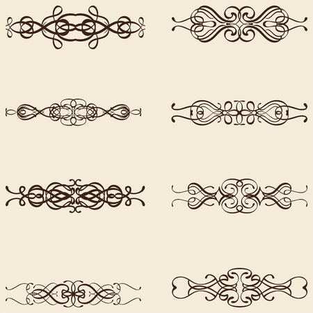 divides: Dividir l�neas adornadas aislados en color beige