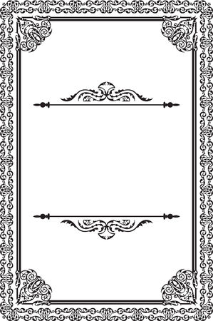 gothic revival style: Perfect ancient page is on white