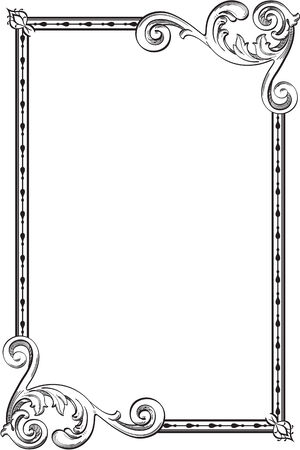 figuration: Baroque frame is isolated on white Stock Photo
