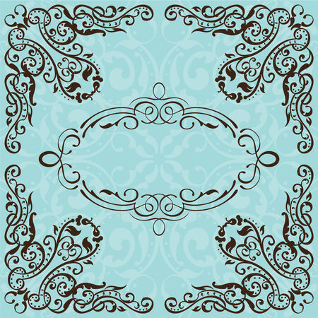 gothic revival style: Optical illusion frame is isolated