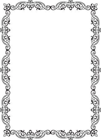 ar: Old Nice Ar Frame is on white Illustration