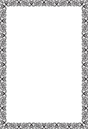 florid: Art Page is isolated on white
