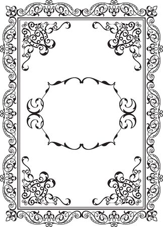 figuration: Old Nice Frame is isolated on white