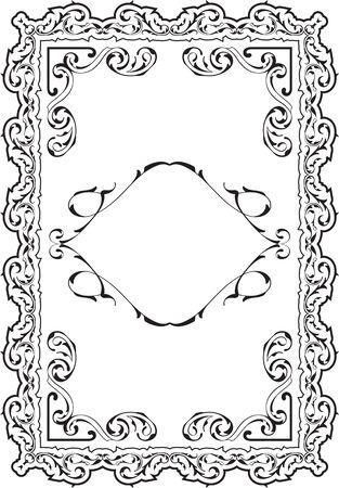 art frame: Art frame isolated on white