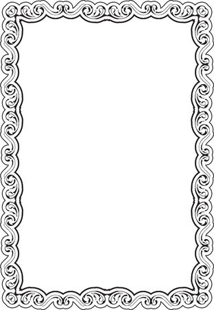figuration: Art frame isolated on white