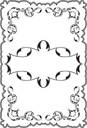 ornament frame: Art ornament frame isolated on white Illustration