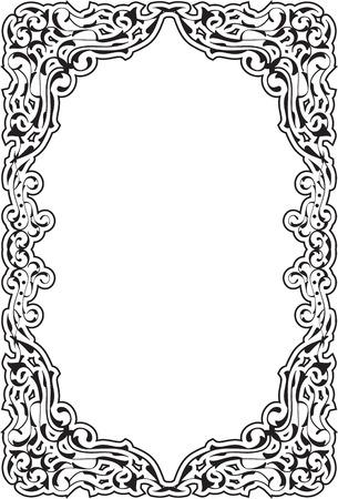 antique frames: Baroque frame isolated on white