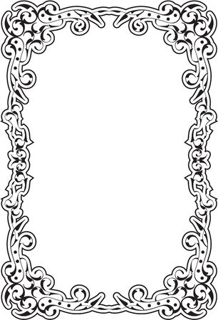 Baroque old frame isolated on white