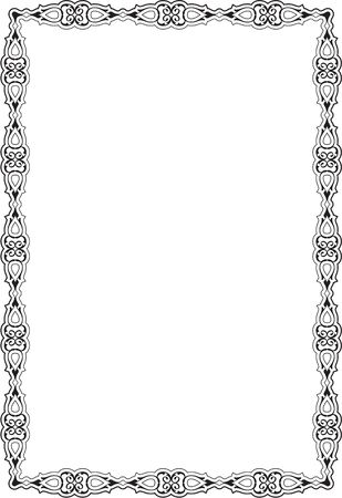 scroll: Ornate Vintage Scroll Page on white Illustration