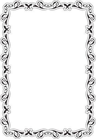 art frame: Baroque Greeting Art Frame is on white