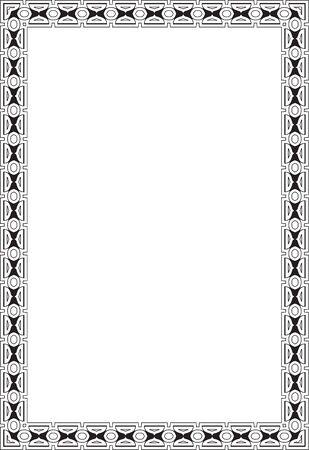 Marco Adornado Aislado En Blanco Ilustraciones Vectoriales, Clip Art ...