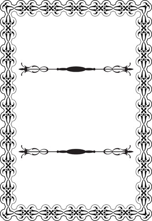scroll victorian art page on white royalty free cliparts vectors