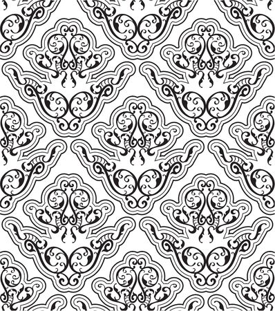 figuration: Seamless orient art pattern is on white