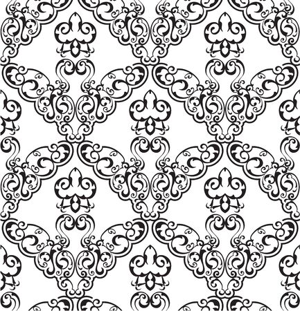 figuration: Seamless ornament pattern is on white