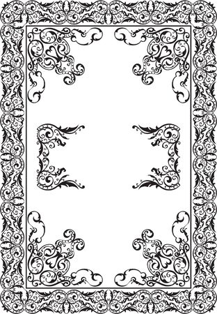 victorian vintage: Art Victorian Vintage Page is on white