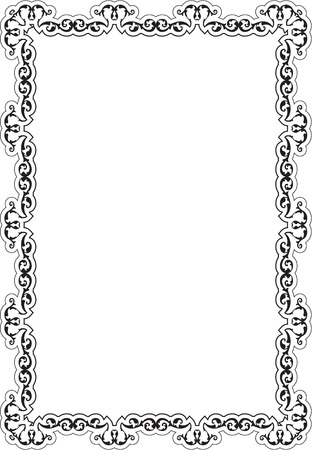 Ornate frame is isolated on white Stock Photo