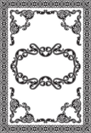 antic: Ornament antic page is isolated on white