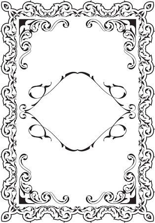 scroll tracery: Vintage victorian perfect scroll page on white Stock Photo