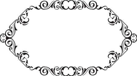ornamente: The art vintage ornamente scroll fine page on white
