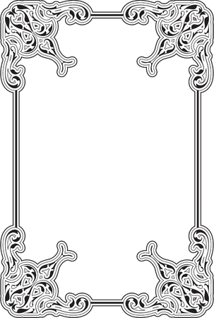 scroll tracery: The victorian vintage art  page is on white