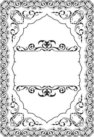 scroll border: The scroll perfect ornament art border on white Stock Photo