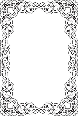 Victorian Art Ornate Scroll Frame On White Stock Photo, Picture And ...