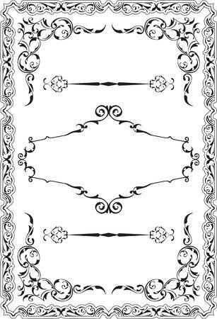 scroll border: Scroll nice ornane border is on white