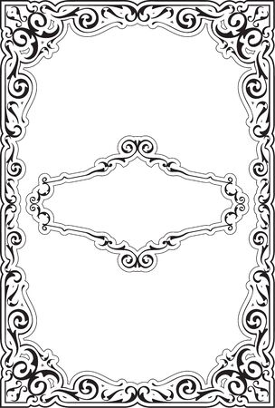 victorian frame: The victorian ornate nice frame is on white Stock Photo