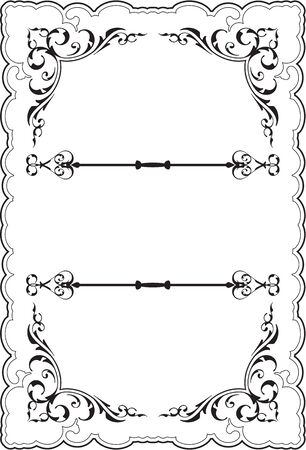 scrolling: Scrolling ornate perfect frame on white