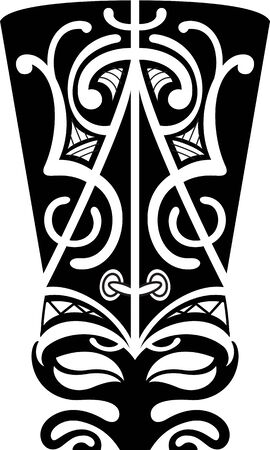 maori: Maori mask is isolated on white