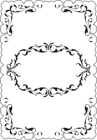 vecchia cornice: Cool vintage old frame is on white