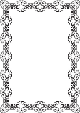 vintage leaf: The ornate frame isolated on white