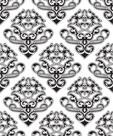 figuration: Baroque seamless pattern is isolated on white Illustration