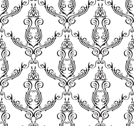 florid: Seamless pattern is isolated on white