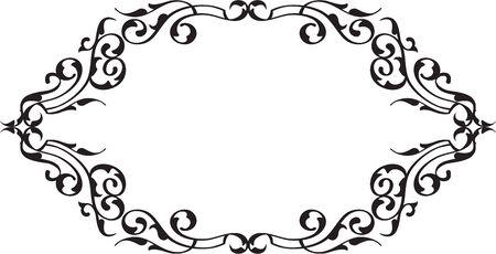 art frame: Nice swirll greeting art frame on white