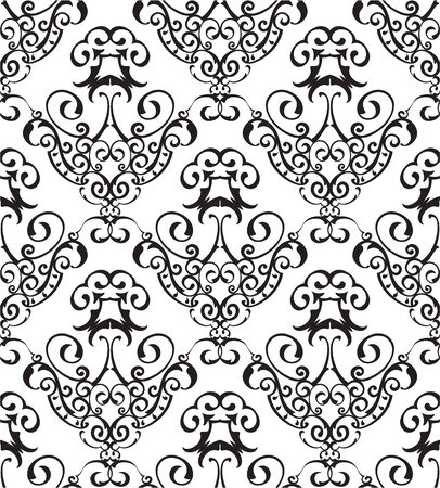 figuration: Seamless ornament nice art pattern on white